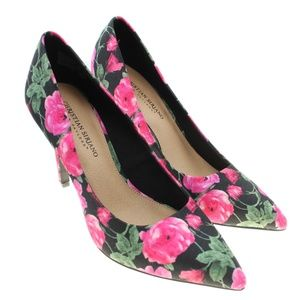 Christian Siriano Floral Fabric Heels